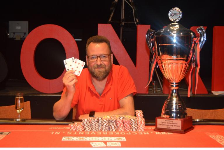 Guy van Ginderen winnaar Open Nederlands Kampioenschap Poker 2017