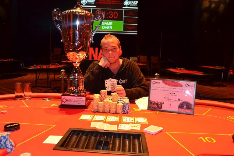 Tobias van der Meer winnaar Open Nederlands Kampioenschap Poker 2015